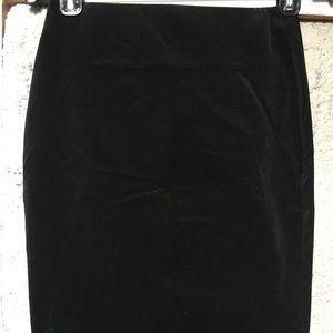 NWT Ann Taylor Velvet Pencil Skirt Petite 00P